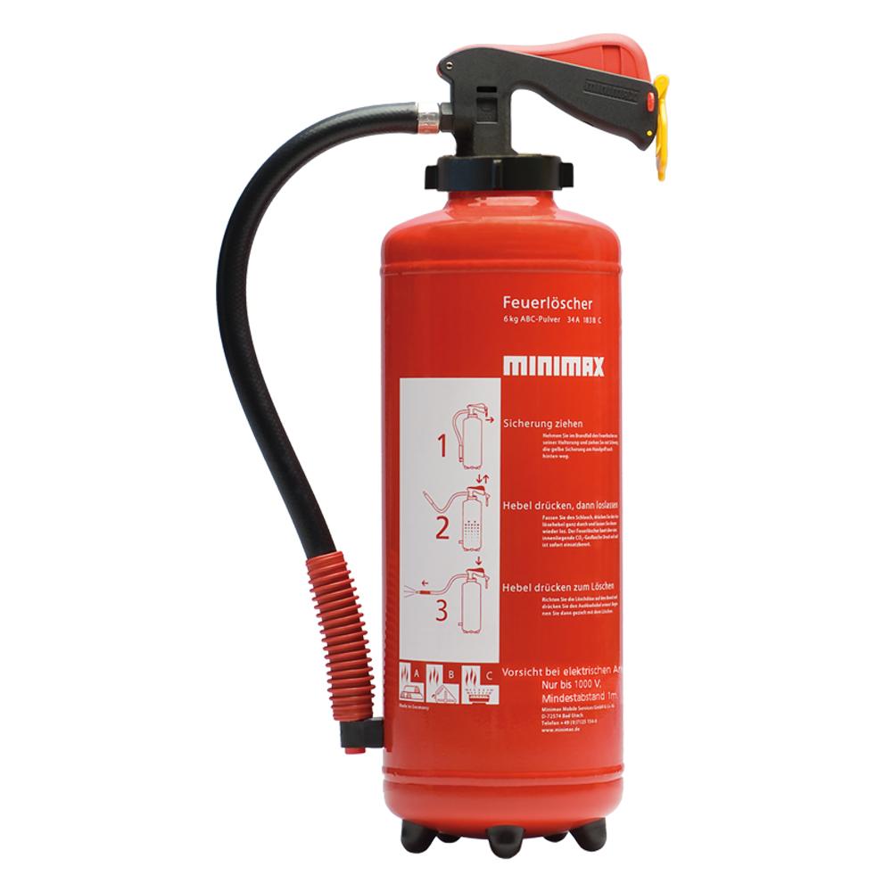 Pulver-Feuerlöscher