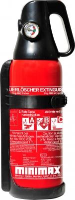 Autolöscher/Pulver-Kompaktfeuerlöscher 1 kg