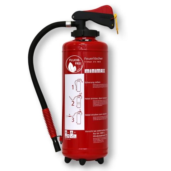 Schaum-Aufladefeuerlöscher 6 l