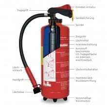 Fettbrand-Aufladefeuerlöscher 6 l